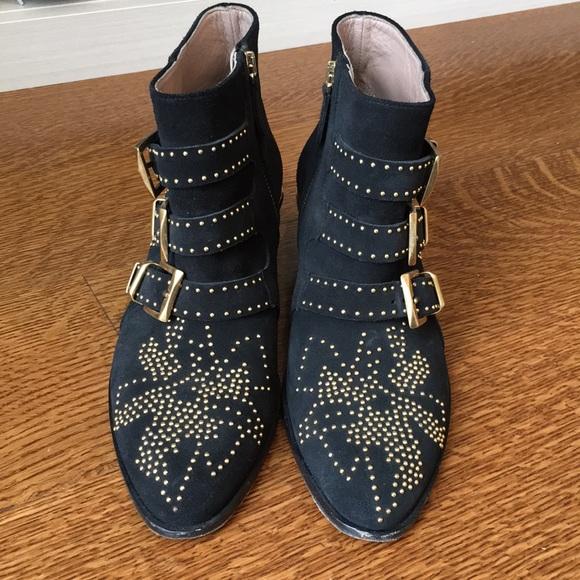 48ada100bce Chloe Shoes | Susanna Studded Suede Ankle Boot | Poshmark